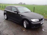 SWAP***06 PLATE BMW 116 84K MILES FSH 10MNTHS MOT GLEAMING BLACK BODY & INTERIOR MINT DRIVES PERF