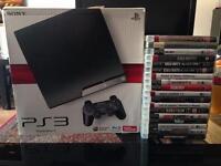 PS3 120gb+2 consols,17games