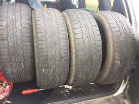 Bridgestone dueler tyres 235/55/18