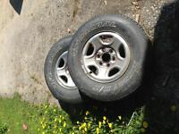 """3 16"""" tires on the Rim $100"""