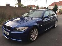 2006 06, E90 BMW 325i MSPORT Auto, 92K, FSH, 7M MOT, Le Mans Blue, Alcantara MSPORT Suede Interior