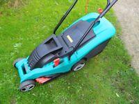 Bosch Rotak 34 Electric Lawnmower.