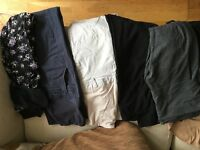 Various maternity trousers size 10/12/M sold together or £4.50ea
