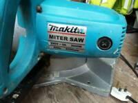 Makita chop saw . Sander an router