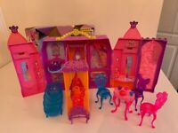 Beautiful Barbie and The Secret Door Castle - complete with ALL accessories and the box - VGC