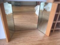 Lovely Quality Solid Wood Folding Mirror - Suitable for Dressing Table or Bedroom Drawer Unit
