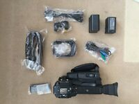 Canon XF100 with Rode NTG1 Mic, Two Batteries, XLR lead Nearly New