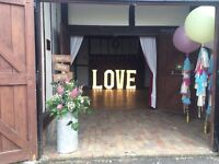 Giant Light Up Love Letters for Hire £100!!