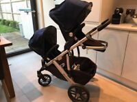 Uppababy Vista pushchair with rubble seat and second seat + Piggyback Ride