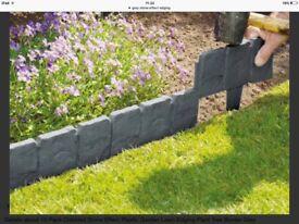Grey stone effect garden edging