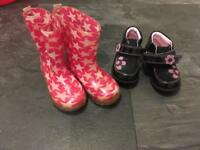 Size 5 toddler shoes/ boots/ slippers