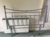 Silver Metal Double Bed Headboard Good Condition £15