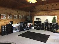 Job Lot of Tv's, Stands, and audio all from our showroom, 53 items