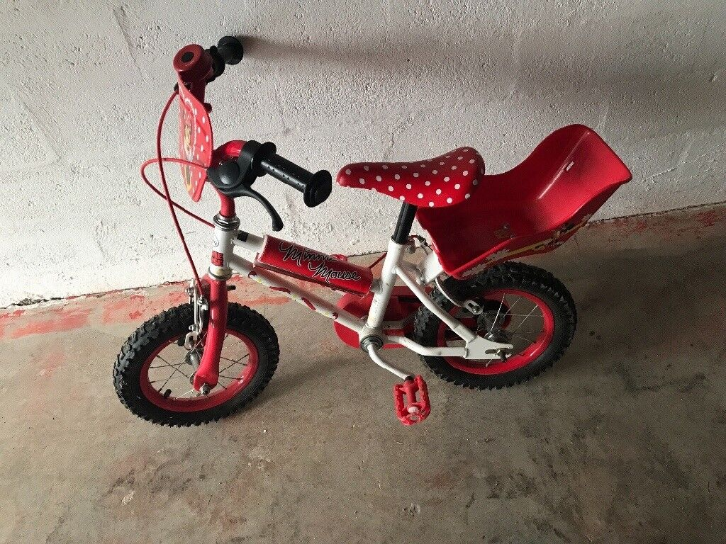 Minnie Mouse small bike red and white