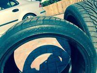 "17"" Dunlop Sport 9000 tyres 235/40 ZR 17 barely worn - 6 - 7mm tread left"