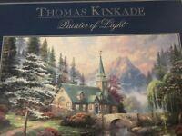 Thomas Kinkade Dogwood chapel 1000 pce jigsaw puzzle