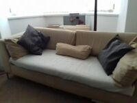Next three seater sofa and armchair in good condtion free delivery anywhere in belfast