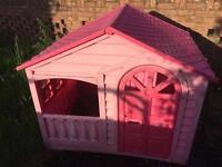 Garden plastic doll house