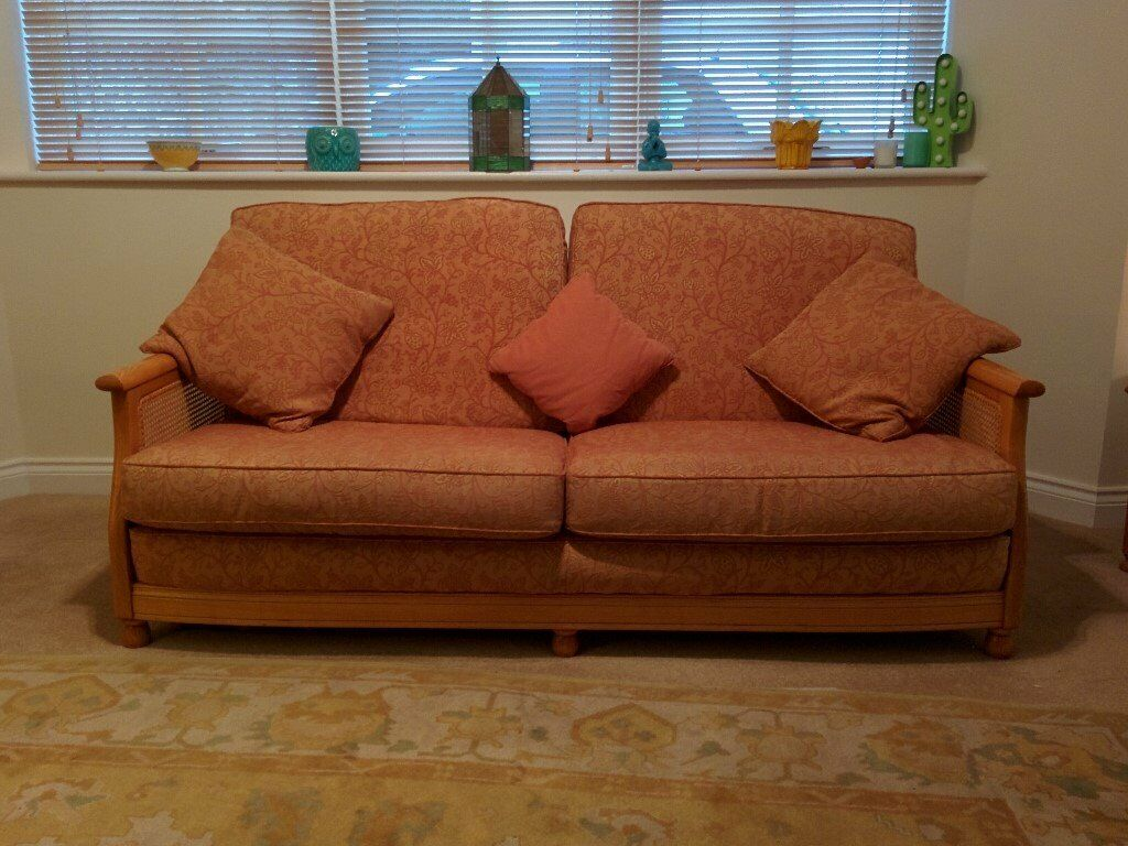 Ercol Bergere Sofa 2 Chairs And Footstool In Kingskerswell