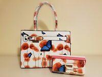 Ladies Floral Pattern Ted Baker Bag & Purse Set
