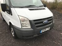 Ford transit mk7 complete front end bonnet , wings , bumper headlights , grill , slam panel white
