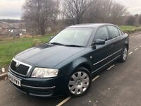 2005 55 SKODA SUPERB ELEGANCE 1.9 TDI 130 BHP # LEATHER # SAT NAV # XENONS # P/SENS# 1 owner# s/hist