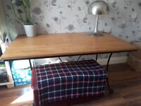 Wooden topped Dining table (no chairs)