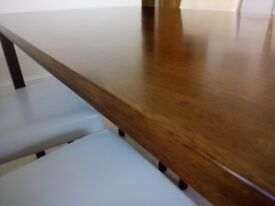 Dining table with four chairs. Excellent condition