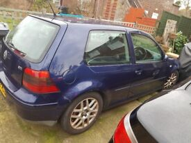VW Golf 1.8 GTI mk4 midnight blue, remapped lowered,alloys,
