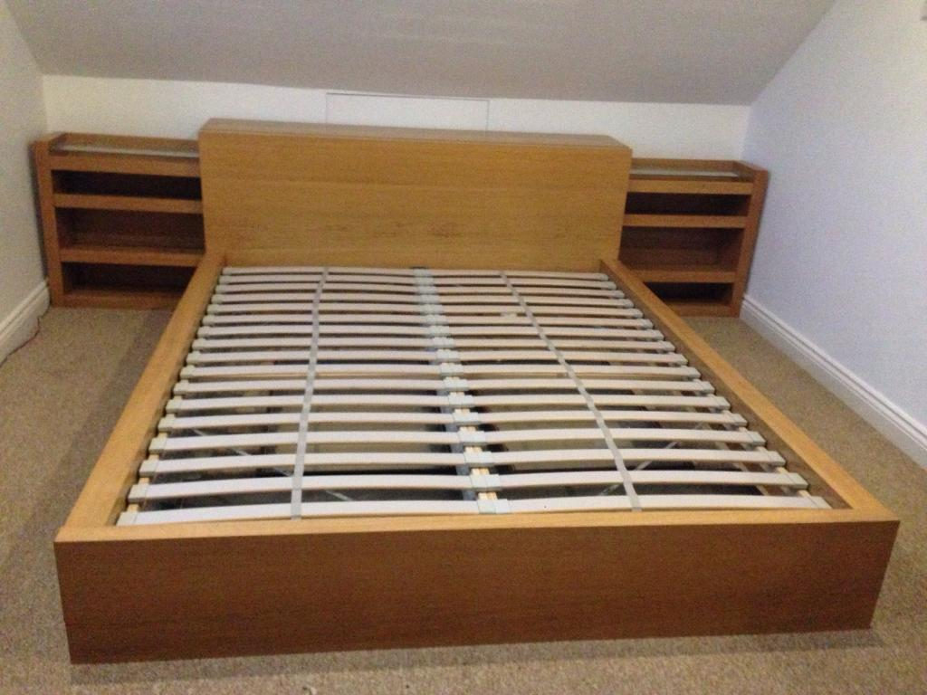Malm Ikea King Size Bed Frame And Side Units In Poole