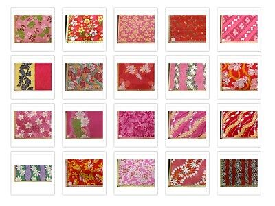 - 26 PRINTS REDS PINK HAWAIIAN FLORAL PRINT POLY COTTON FABRIC BY THE YARD