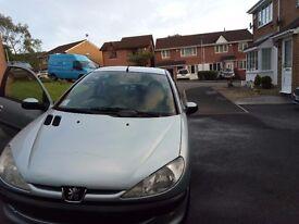 Peugeot 206 Verve 1.1 Ltr Petrol. Ice Blue. 3 Door. £500 ONO