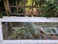 Double glazed door, window frames and rubble