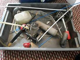 Mds 40 model aeroplane engine and bits