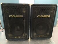 Carlsbro 350w 1x12 horn loaded PA speakers