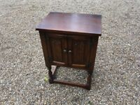 Small Solid Oak Table / Cupboard