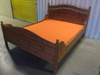 Wooden high quality bed with brand new mattress (with zip cover) // free delivery