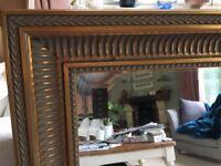 Beautiful Gold Gilded Mirror