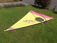 Klepper Junior Windsurfer / Sailboard Kid's Sailing Rig, with lightweight Mast, Boom & 2.8 Sq.m Sail
