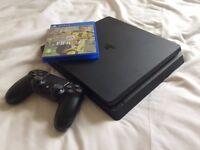 PS4 slim 500gb, controller + FIFA 17