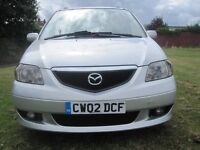 MAZDA MPV 2.0DIESEL 2002 SILVER 7SEATER HPI CLEAR 12MONTHS MOT