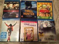 Bundle of blu ray films