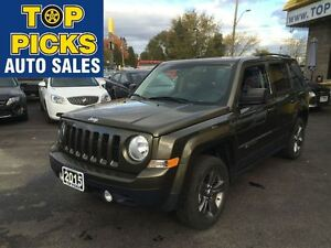 2015 Jeep Patriot HIGH ALTITUDE, LEATHER, SUNROOF, ALLOYS, 4X4,