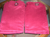 Maroon Faux Suede Pair Curtains 90 x 84 ins