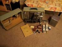 Bolex Paillard 16mm 1960 Sound Projector S-221 vintage antique retro case instruction book extras