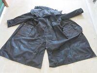 Long oilskin wax coat, unisex, unworn but out of packet