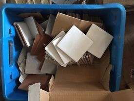 Approx 200plus small square white tiles New & unused