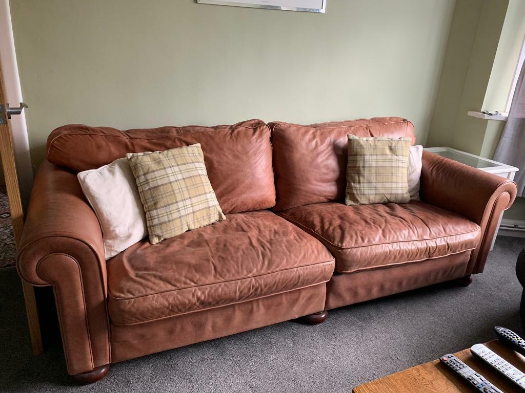 Heals 4 seater leather sofa. FREE!! | in Stafford