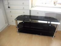 black glass tv unit selling for £40