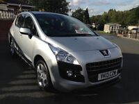 PEUGEOT 3008 2013 ONLY 15500 MILES, 1 OWNER FROM NEW, SILVER, STILL AS NEW